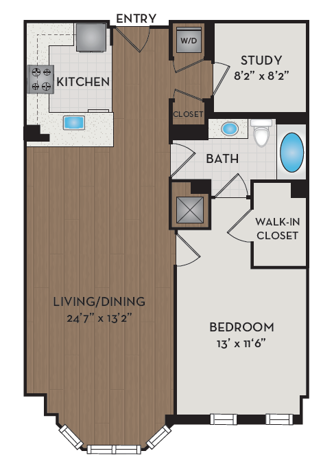Apartment 341 floorplan