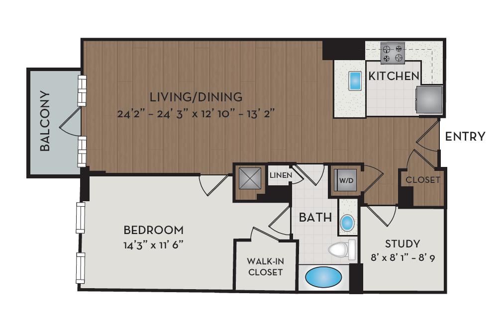 Apartment 205 floorplan