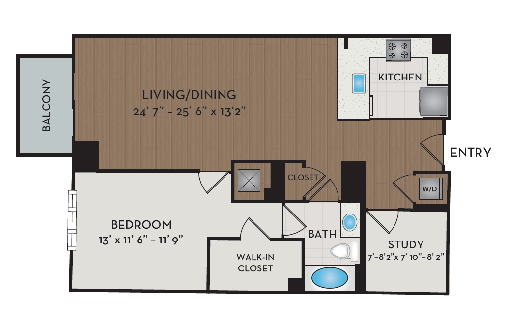 Apartment 423 floorplan