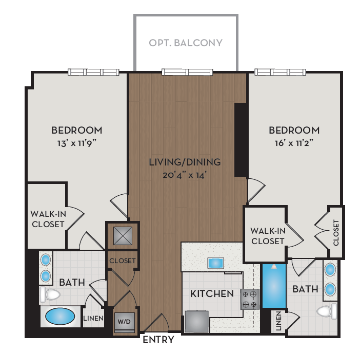 Apartment 415 floorplan