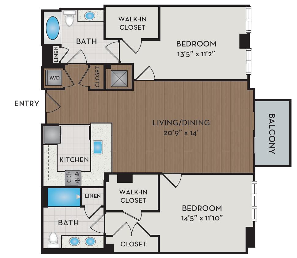 Apartment 506 floorplan