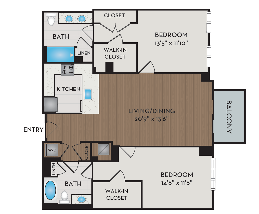 Apartment 208 floorplan