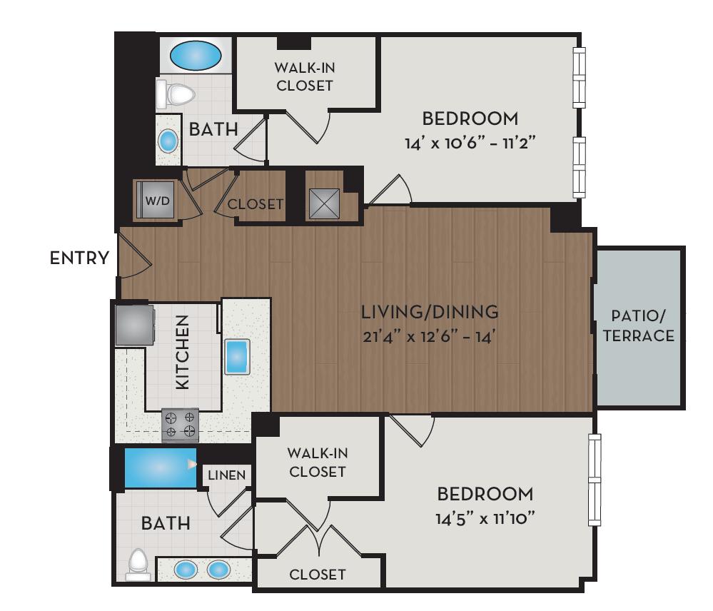 Apartment 528 floorplan