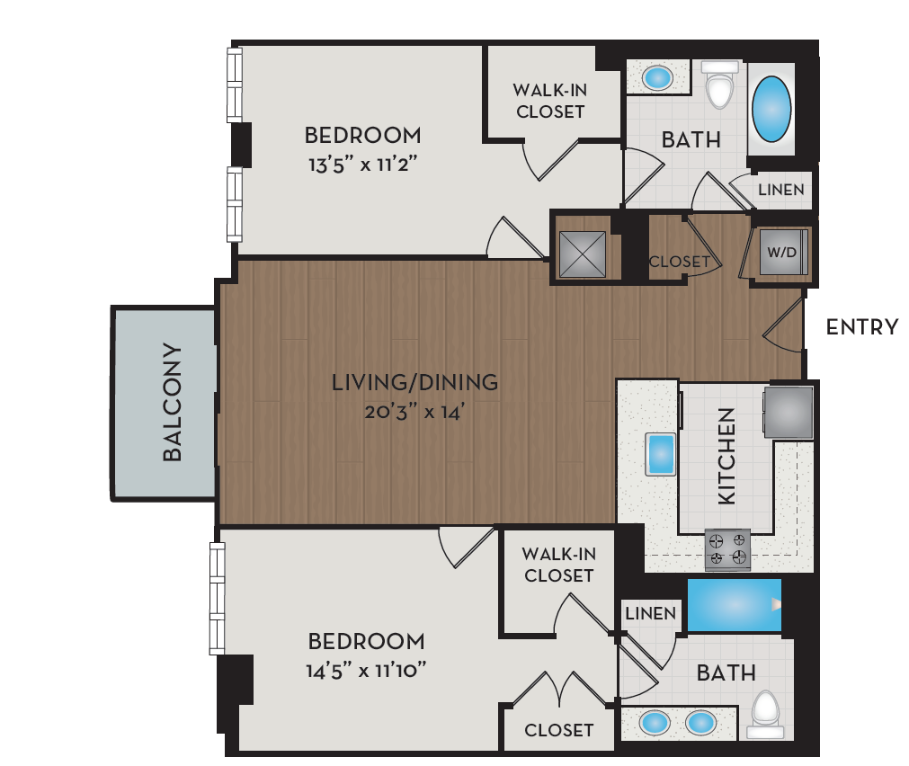 Apartment 250 floorplan