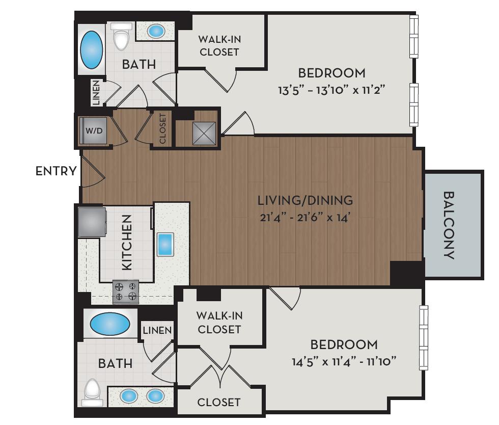 Apartment 524 floorplan