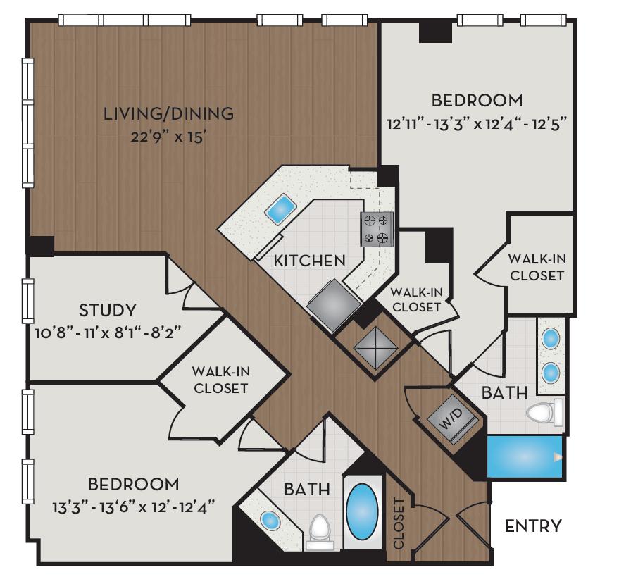 Apartment 502 floorplan