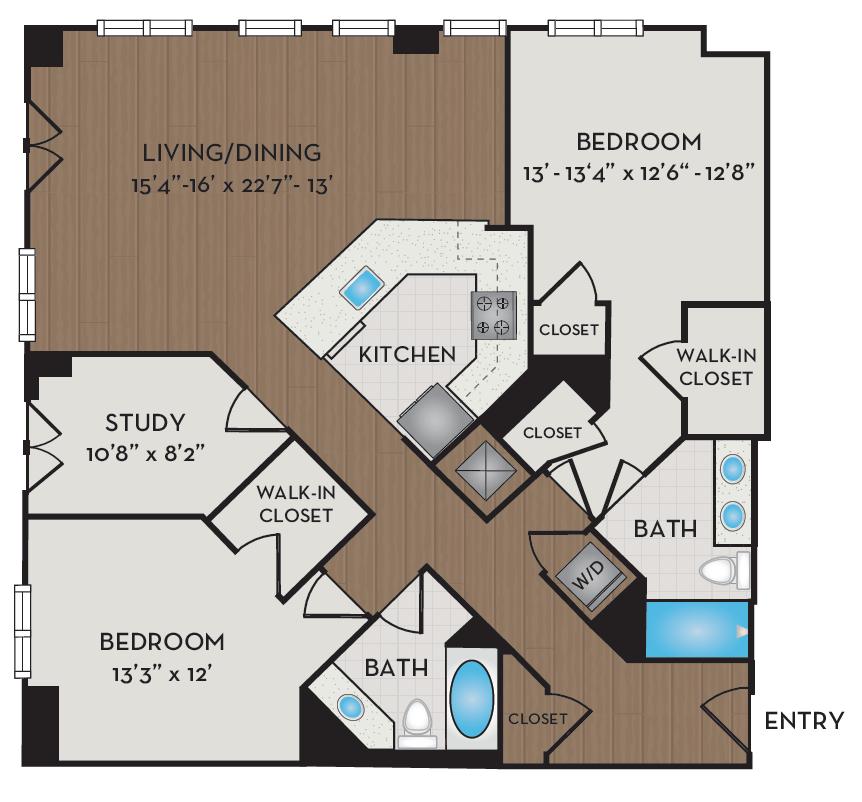 Apartment 201 floorplan