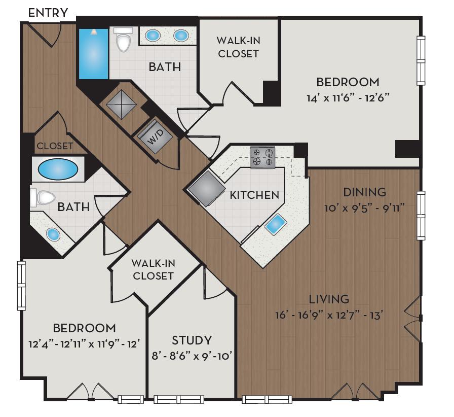 Apartment 442 floorplan