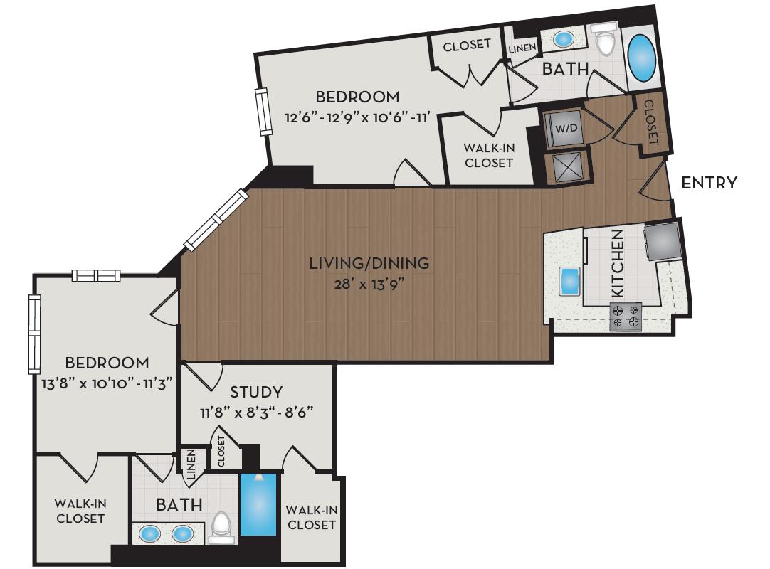 Apartment 421 floorplan