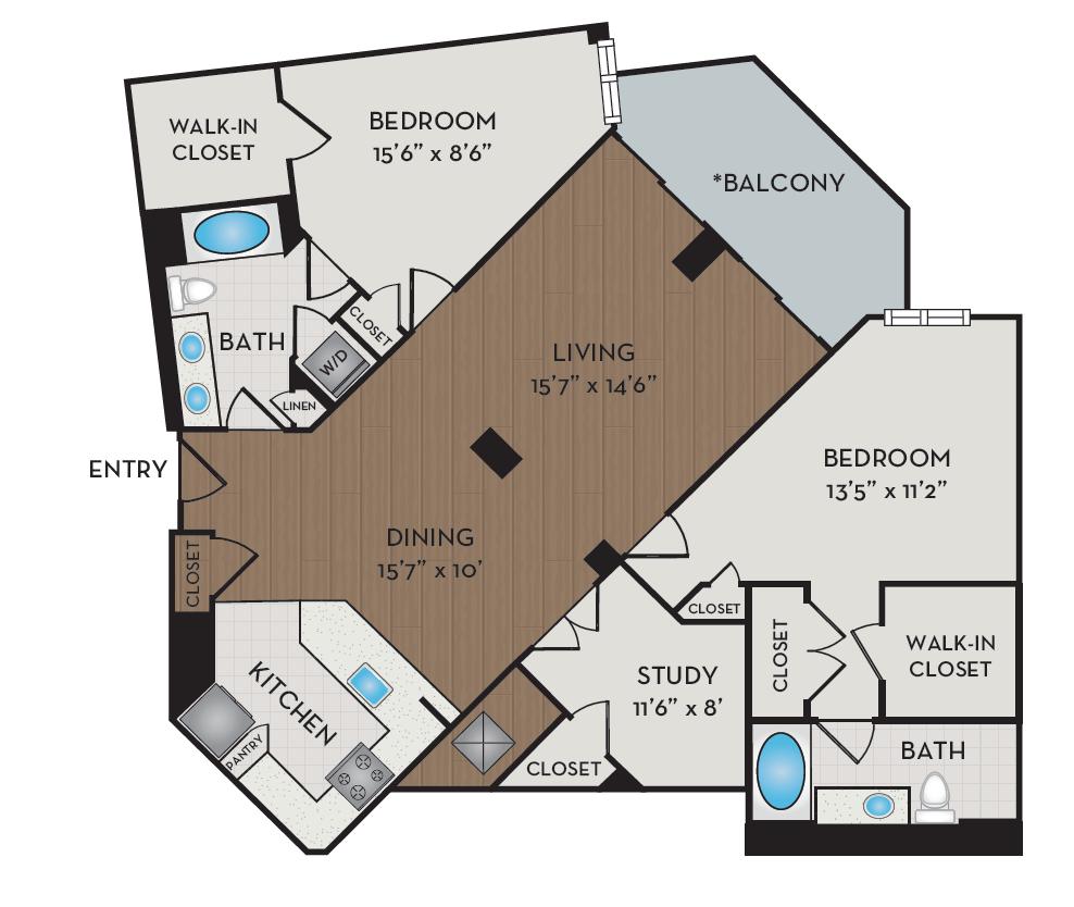 Apartment 220 floorplan