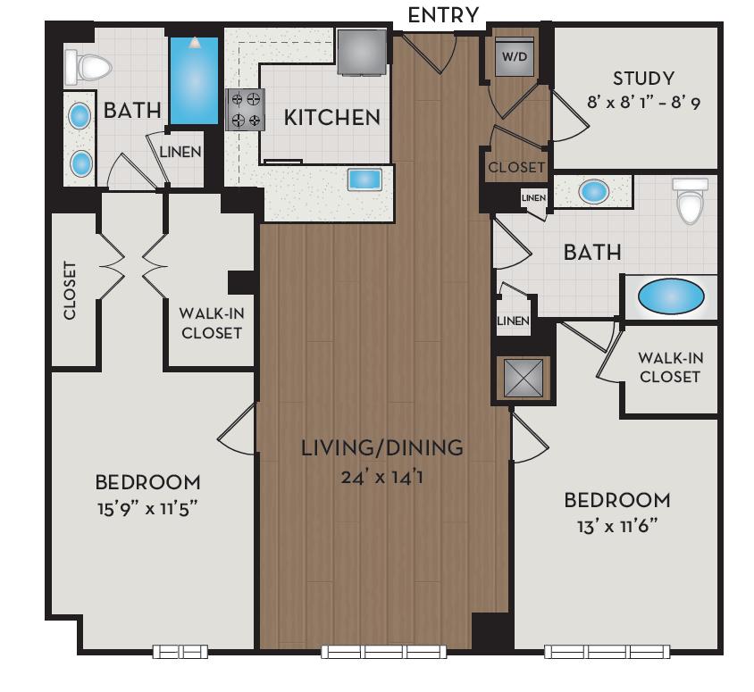Apartment 219 floorplan
