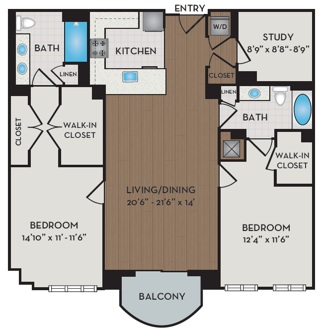 Apartment 417 floorplan