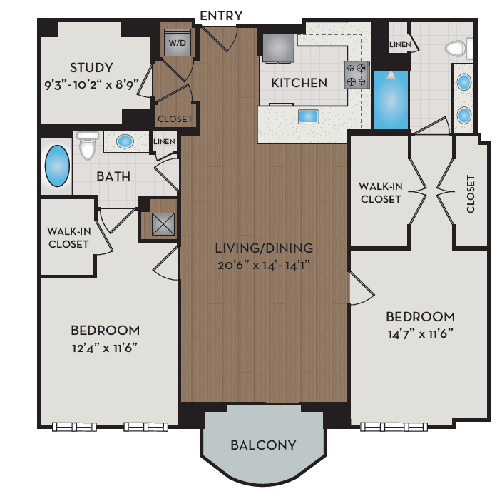 Apartment 338 floorplan