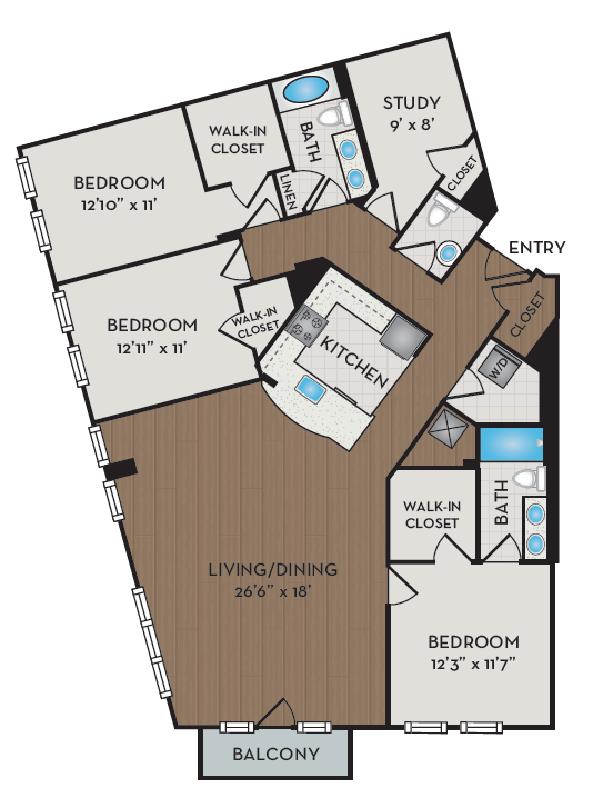 Apartment 514 floorplan