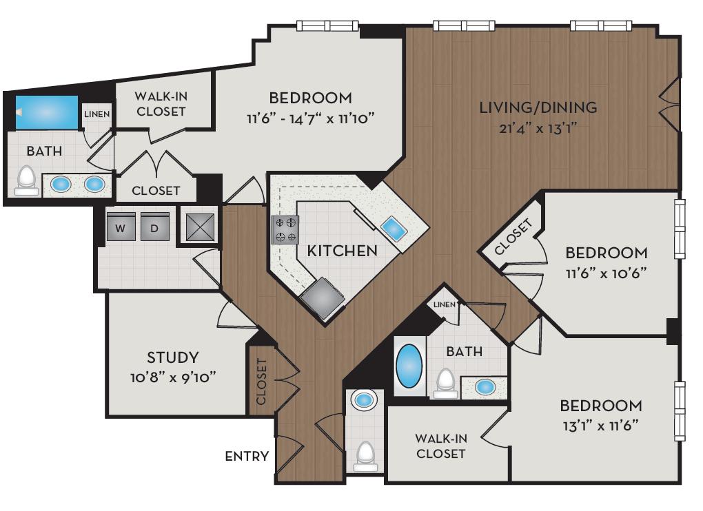 Apartment 343 floorplan