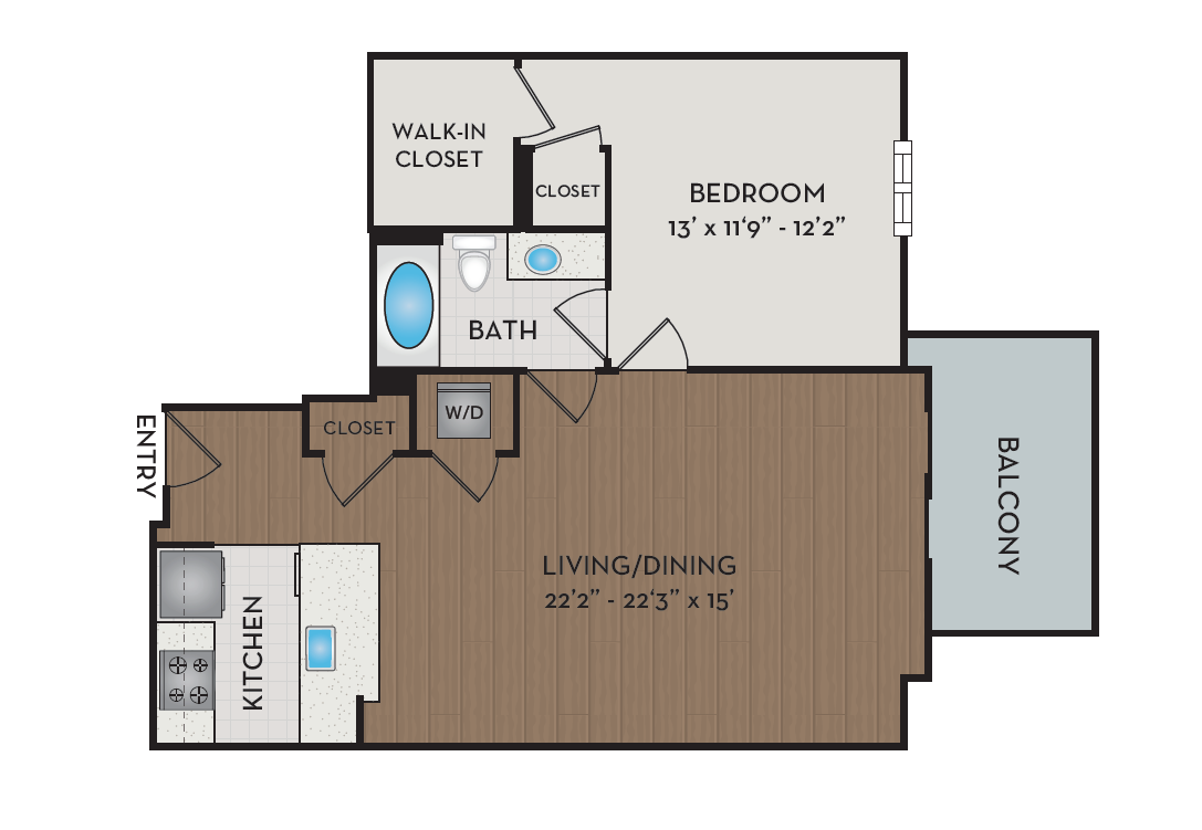 Apartment 204 floorplan
