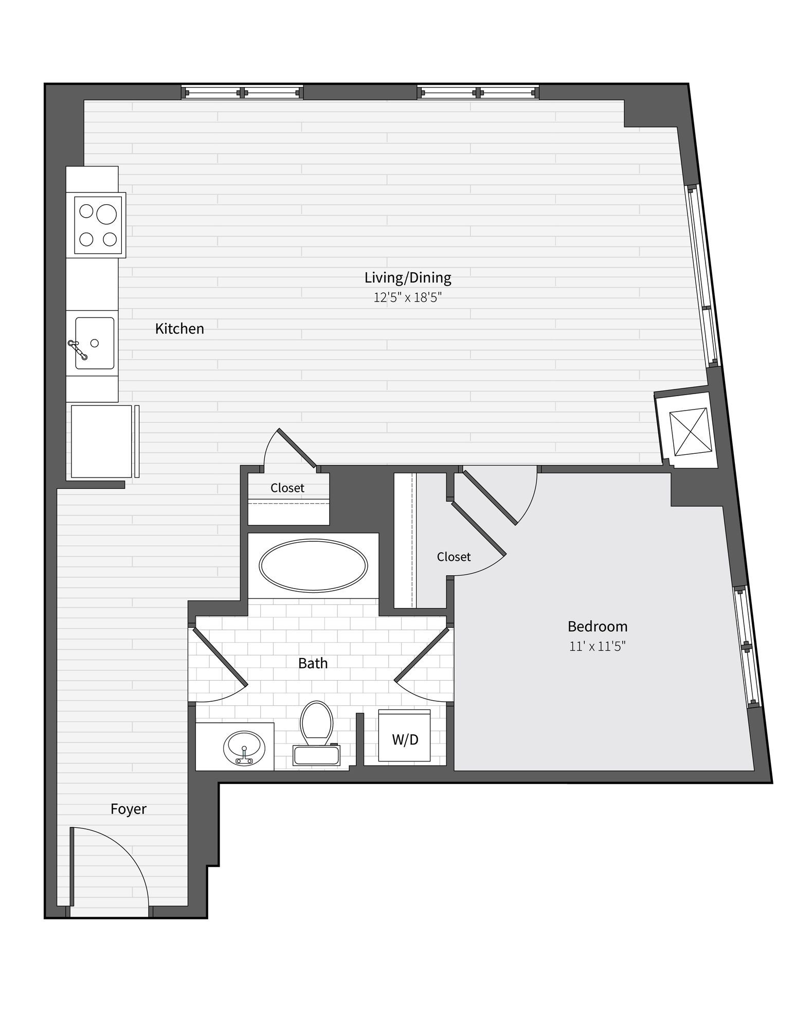 Apartment 335 floorplan