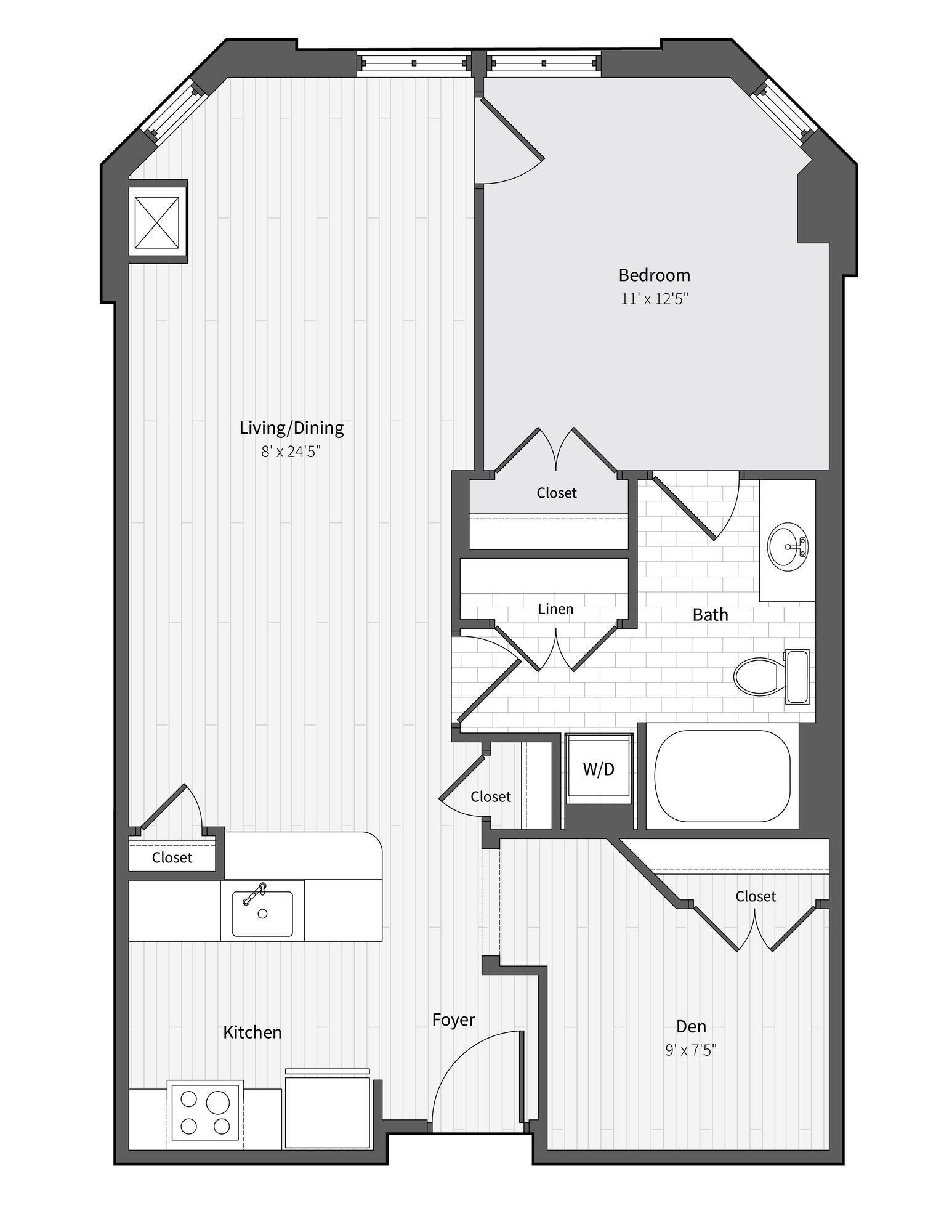 Apartment 321 floorplan