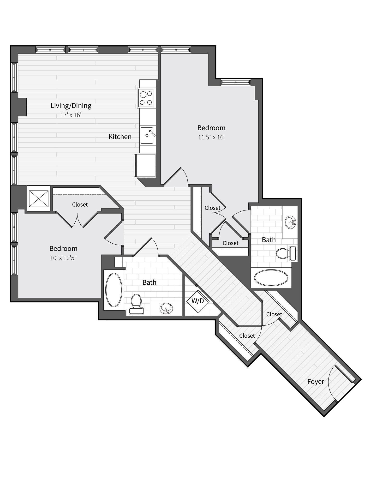 Apartment 763 floorplan