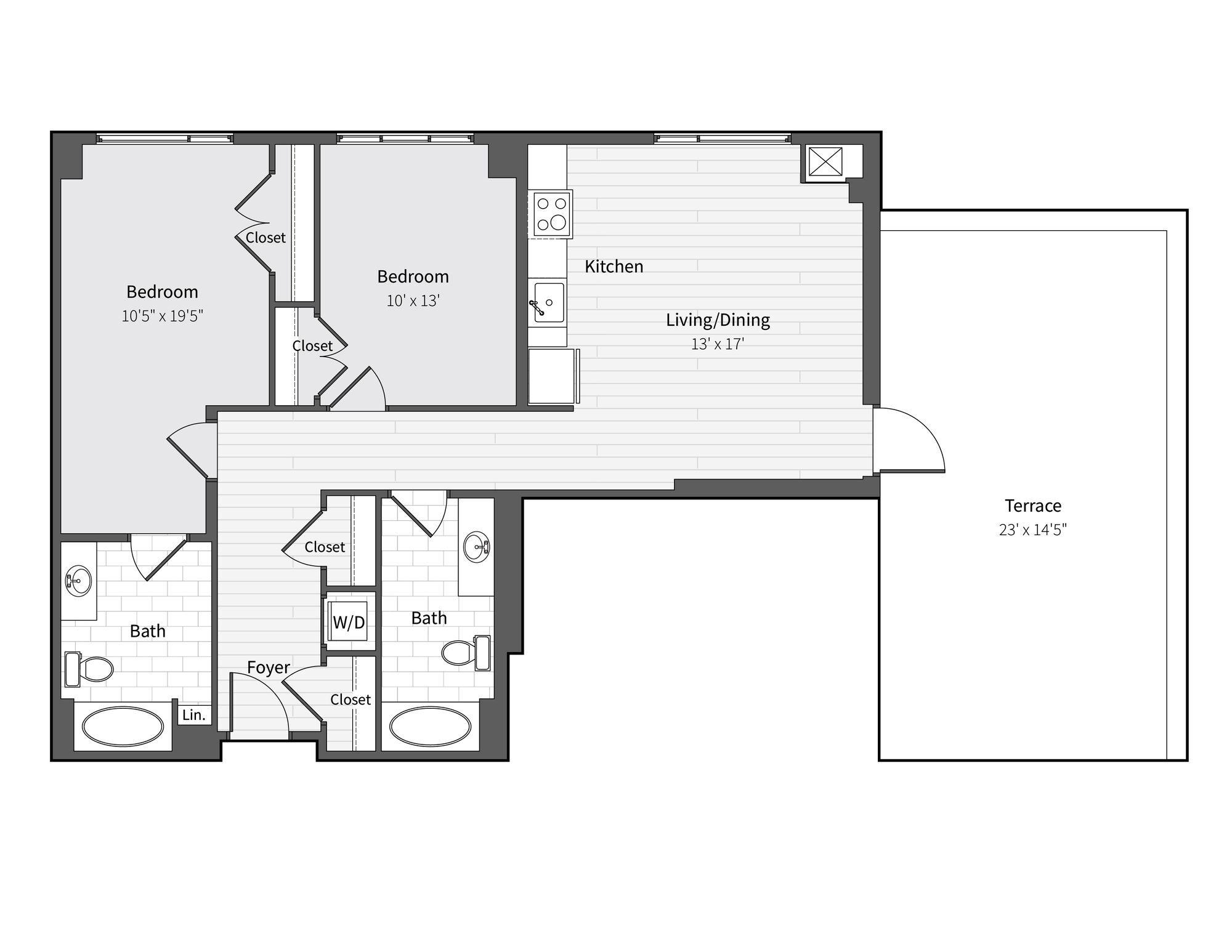 Apartment 724 floorplan