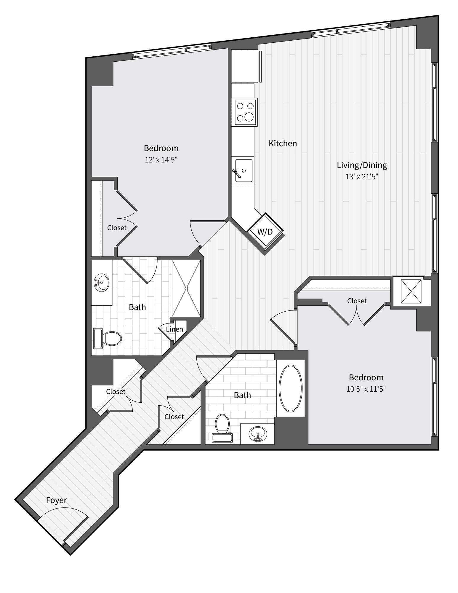 Apartment 450 floorplan