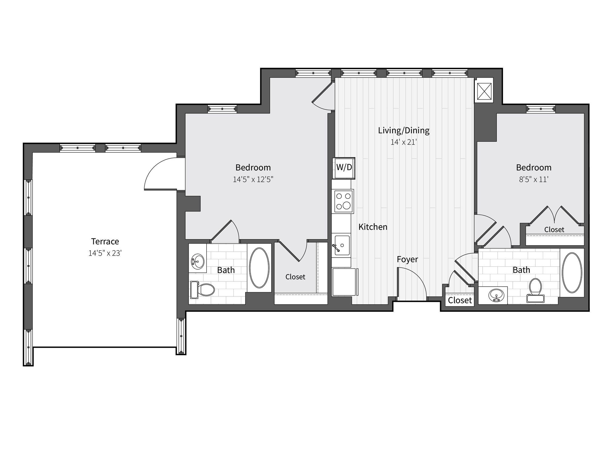 Apartment 729 floorplan