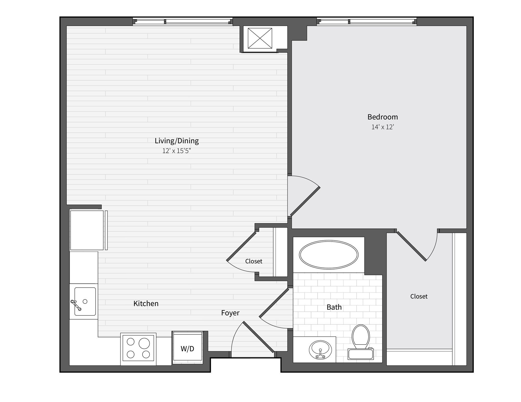 Apartment 533 floorplan