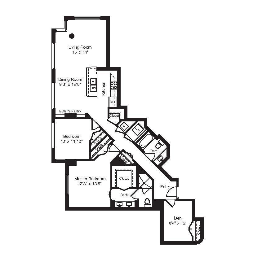Apartment 1-0102 floorplan