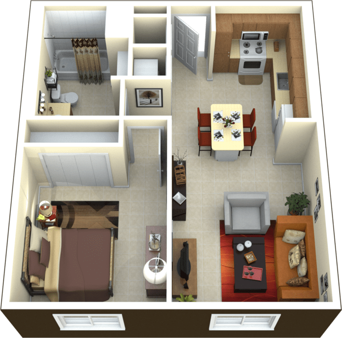 Senior 1 & 2 Bedroom Apartments In Miami At Friendship Tower
