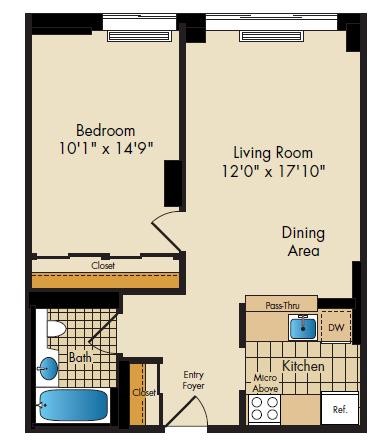 floor plan image of14B