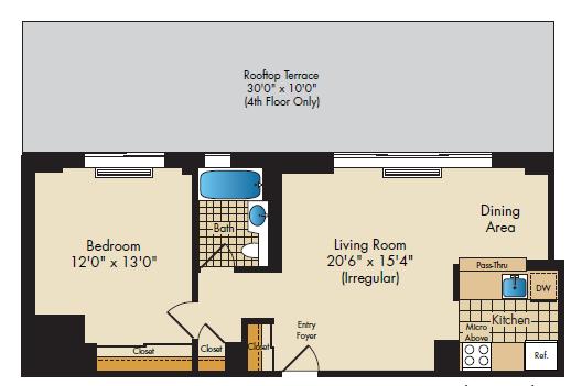 1Bedroom  638;657;659