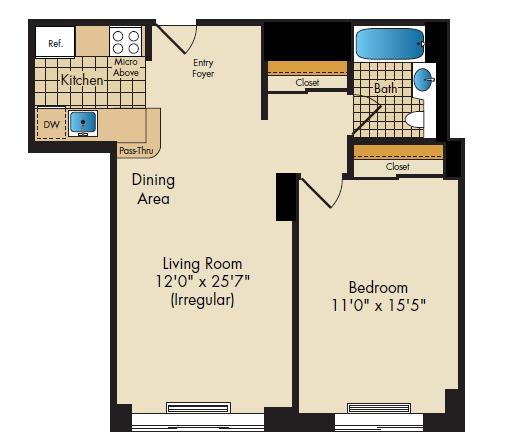 1Bedroom 672;673