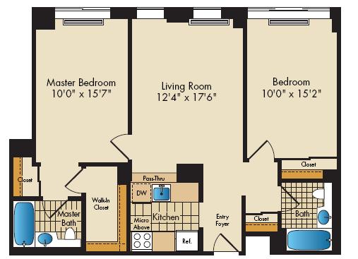 2bedroom 903sf