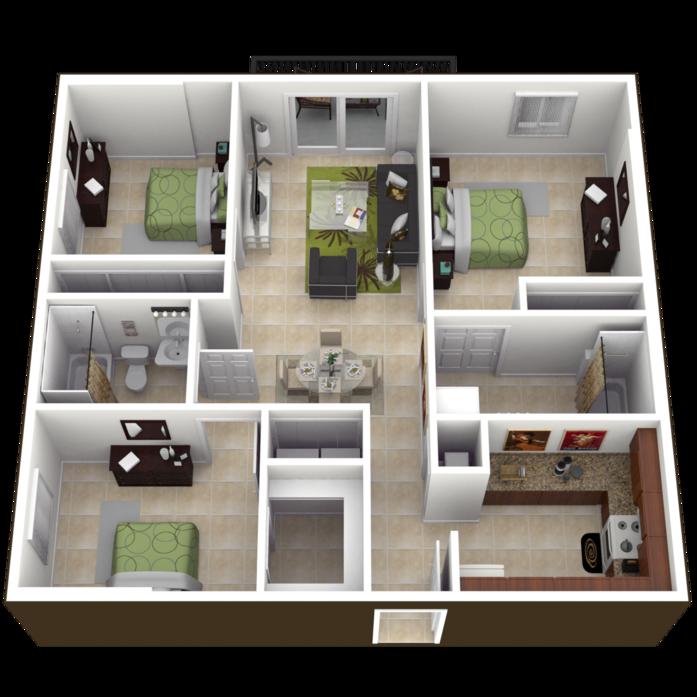 1, 2 & 3 Bedroom Apartments In Miami Florida