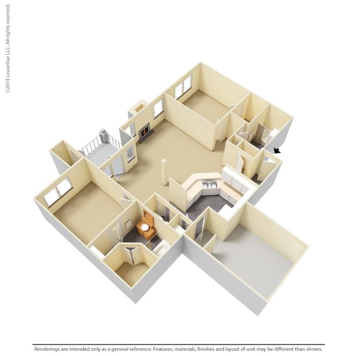 Coppell, TX Oaks Riverchase Apartments Floor Plans