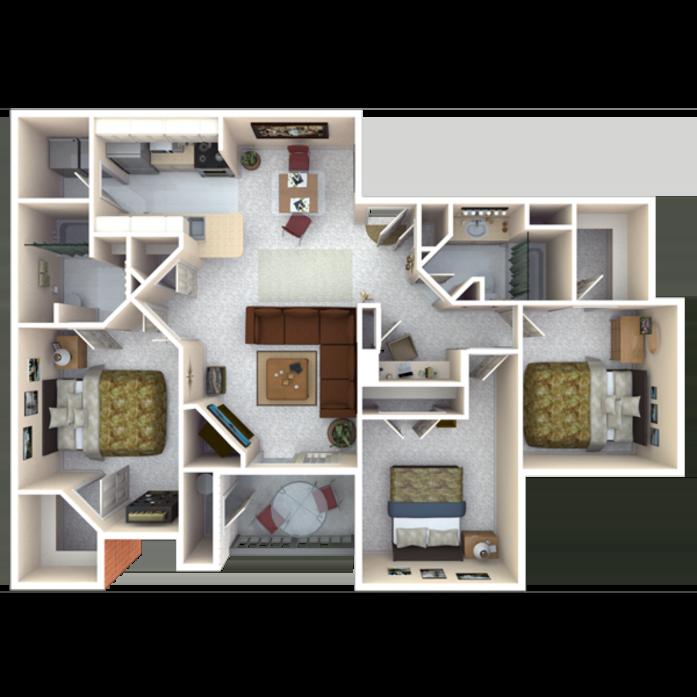 Crestone Apartments: Longmont, CO Fox Ridge Floor Plans