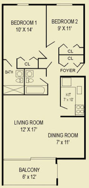 Two Bedroom 2A