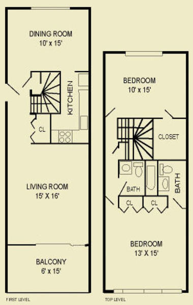 Two Bedroom 2C