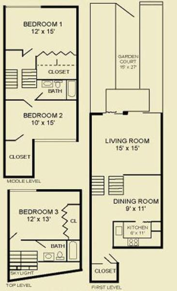 Three Bedroom Townhome 3TB