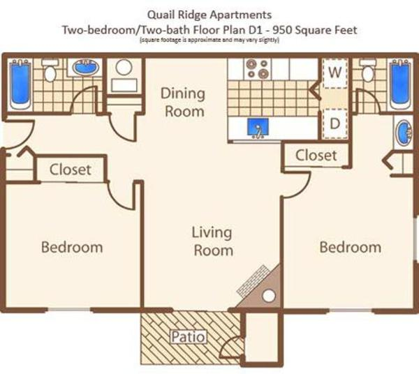 D - Two Bedroom, Two Bath