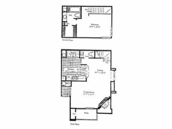 1 Bed 1.5 Bath Townhome (A1-A3)