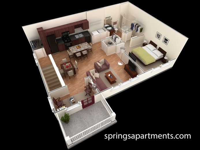 Studio Apartment Tulsa springs at memorial - oklahoma city, ok apartments for rent