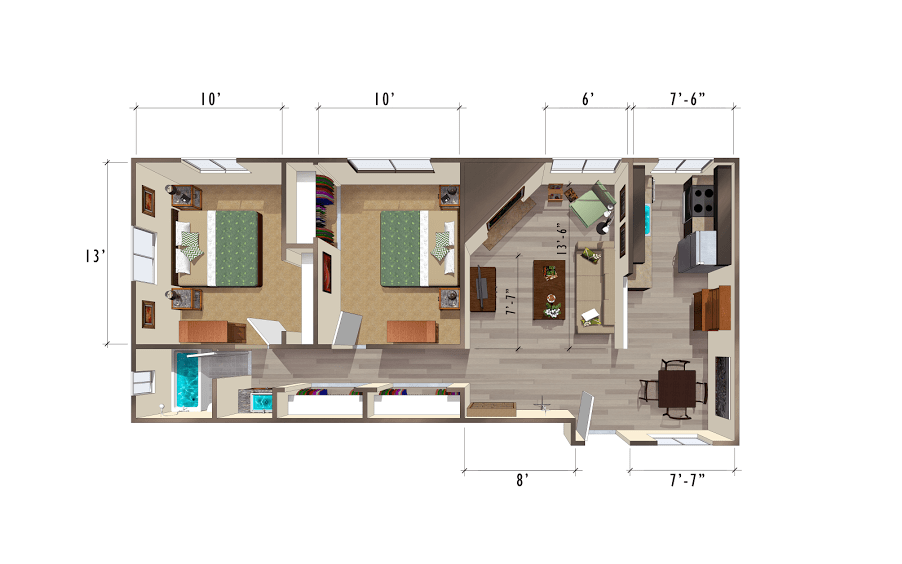 image 1 unfurnished 2 bedroom Apartment for rent in University, Denver South