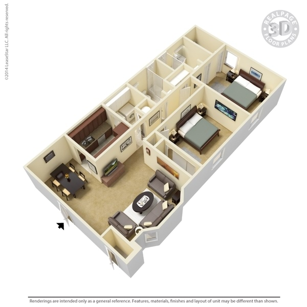Two bedroom Phase I