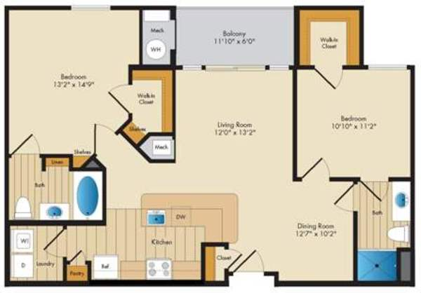 Montague - 2 Bed/2 Bath - 1033 sq ft