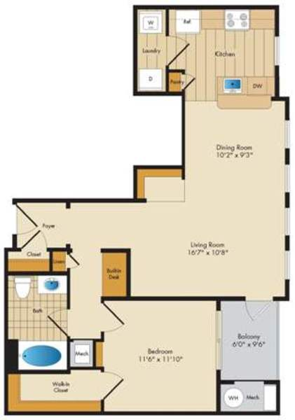 Tremont - 1 bed/1 bath - 815 sq ft