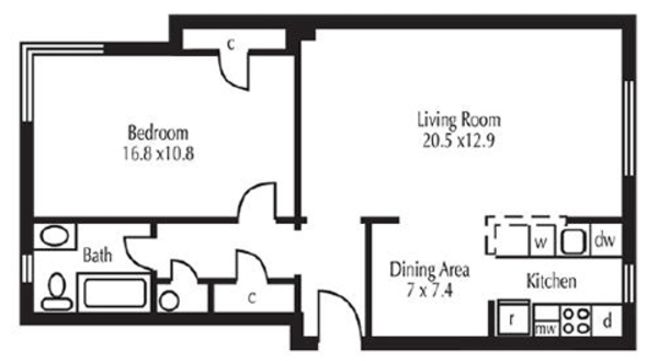 1 Bed 1 Bath (GC)