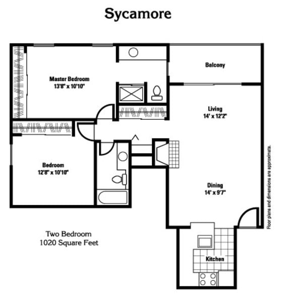 Sycamore - 1020 sq ft