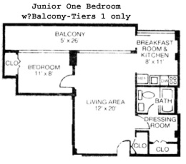 Junior One bedroom (Remodeled)