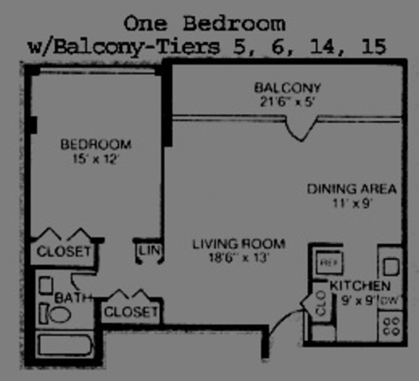 One Bedroom (Remodeled)